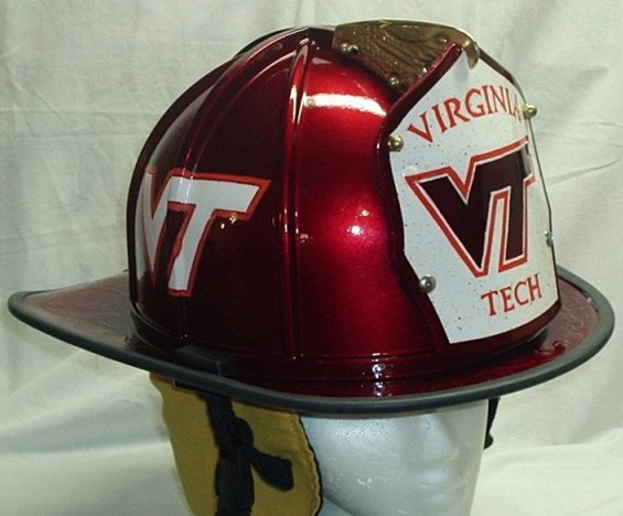 OT Where To Get A Hokies Fire Helmet Decal The Key Play - Reflective fire helmet decals